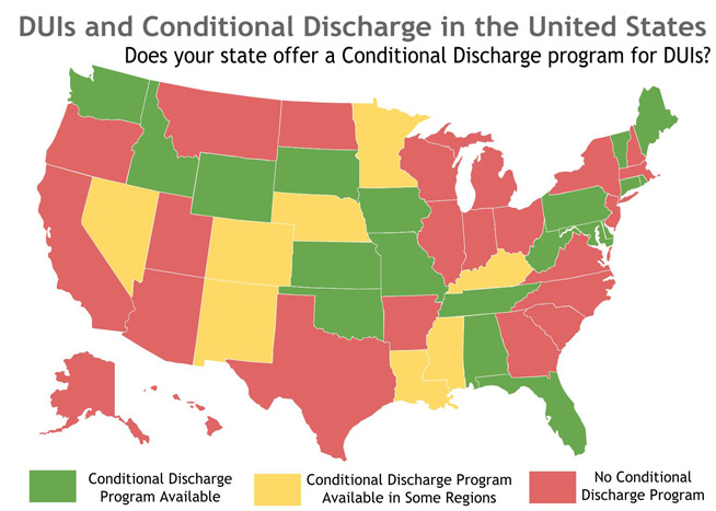 DUI Conditional Discharge Map